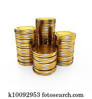 Golden casino chips