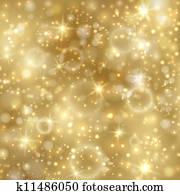 goldener hintergrund, mit, sternen, und, twinkly, lichter