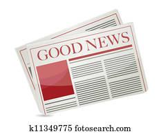 good news newspaper illustration