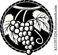 grapes symbol (grapes design, grape