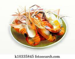 Grilled shrimp or Prawn BBQ