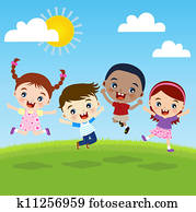 group of happiness children