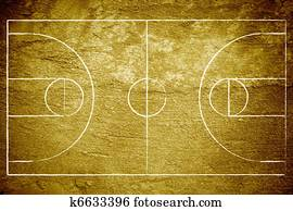 Grunge Basketball Court