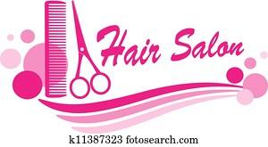 hair salon sign with scissors