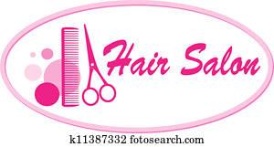 hair salon signboard with scissors
