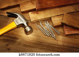 Hammer and nails