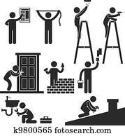 Handyman Fixing Repairing Symbol