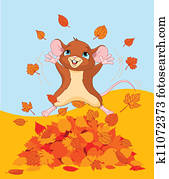 Happy fall mouse