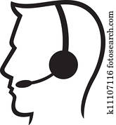 headset symbol (man headset, call c