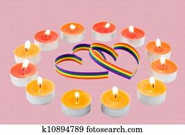Resimler Iki Kalp Boya Yüzünden Lâ Notasi Six Colour Eşcinsel