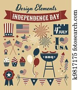 Independence Day Design Elements