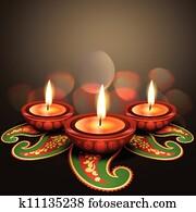 indische, fest, diwali