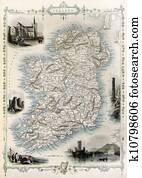Ireland old map