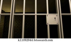 Jail Cell Door Locked Front