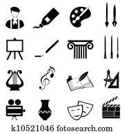 künste, symbol, satz