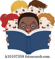 kindern, lesende, buecher