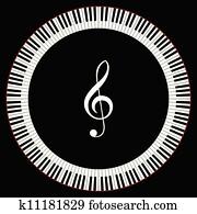 kreis, von, klavierschlüssel