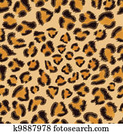 leopard, seamless, muster