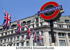 London Underground and Union Flags