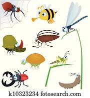 lustig, insekt, satz, #2
