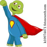 lustig, Turtle., Superman.