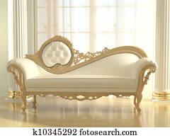 Luxurious sofa in modern interior apartment