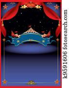 magie, zirkus, per, nacht