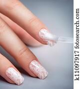Manicure. Nail Polish