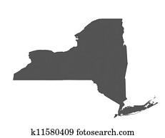 Map of New York - USA