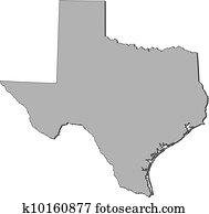 Map of Texas (United States)