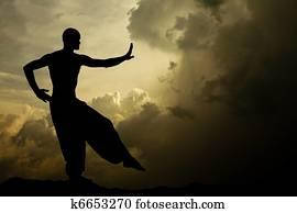 Martial Arts Meditation Background