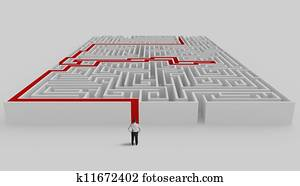 Maze and solution