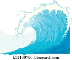 meer, welle, (ocean, wave)