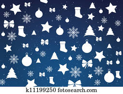Merry Christmas background, vector