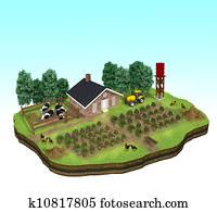 Miniature of a Farm Concept