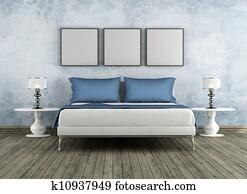 Modern and vintage bedroom