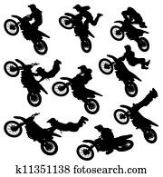motocross freestyle silhouette