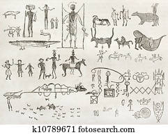 Native American hieroglyphics