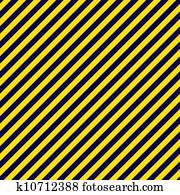 Navy Blue & Gold Diagonal Stripe