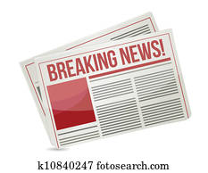 newspaper headline breaking news