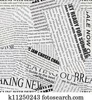 Newsprint Background