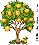 obstbaum, freigestellt