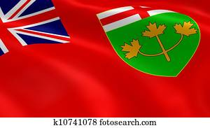 Ontarian flag in the wind