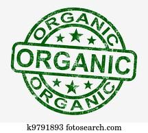 Organic Stamp Shows Natural Farm Food