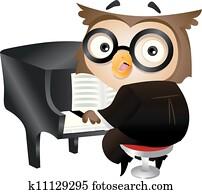 pianist, eule