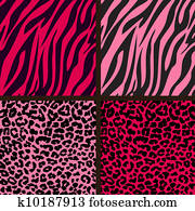 Pink Cheetah & Zebra Papers