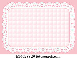 Placemat Quilted Pastel Eyelet Lace
