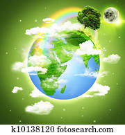 Planet Earth. Abstract environmental backgrounds
