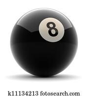 Pool Black Ball number eight