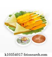 Pork Satay & Chicken Satay